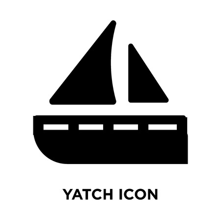 Yatch icon vector isolated on white background, logo concept of Yatch sign on transparent background, filled black symbol