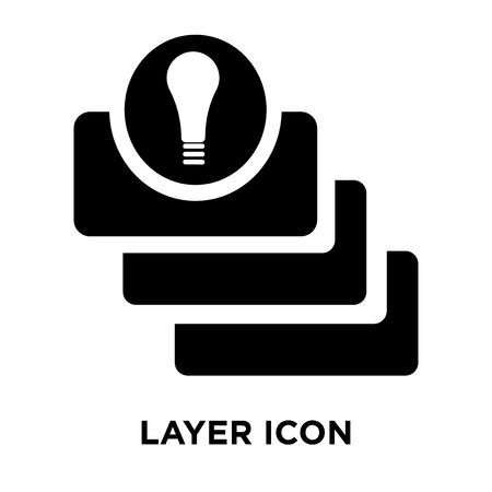 Layer icon vector isolated on white background, logo concept of Layer sign on transparent background, filled black symbol Ilustração