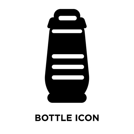 Bottle icon vector isolated on white background, logo concept of Bottle sign on transparent background, filled black symbol