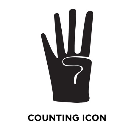 Counting icon vector isolated on white background, logo concept of Counting sign on transparent background, filled black symbol 일러스트