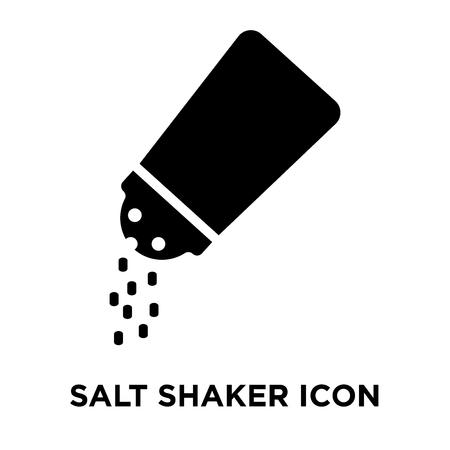 Salt shaker icon vector isolated on white background, logo concept of Salt shaker sign on transparent background, filled black symbol Standard-Bild - 108120006