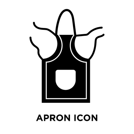 Apron icon vector isolated on white background, logo concept of Apron sign on transparent background, filled black symbol Standard-Bild - 108109347