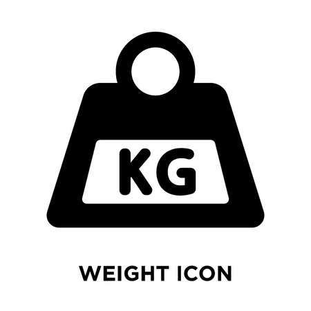 Weight icon vector isolated on white background, logo concept of Weight sign on transparent background, filled black symbol