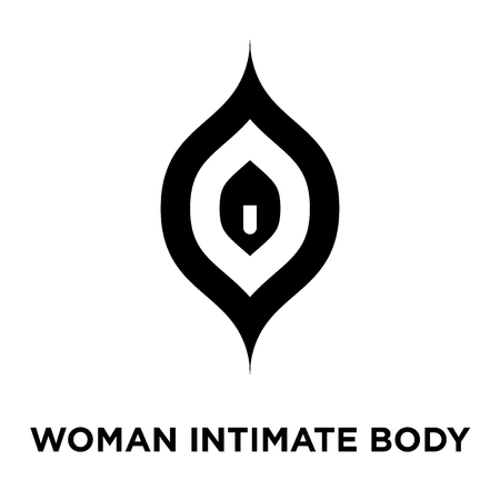 Woman intimate body part icon vector isolated on white background, logo concept of Woman intimate body part sign on transparent background, filled black symbol