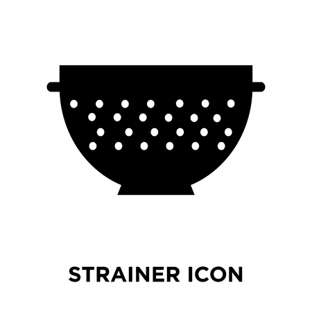 Strainer icon vector isolated on white background, logo concept of Strainer sign on transparent background, filled black symbol Standard-Bild - 108053984
