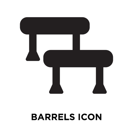 Barrels icon vector isolated on white background, logo concept of Barrels sign on transparent background, filled black symbol Stock Illustratie