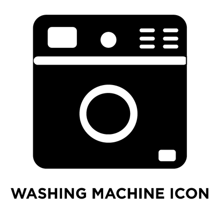 Washing machine icon vector isolated on white background, logo concept of Washing machine sign on transparent background, filled black symbol Standard-Bild - 107783569