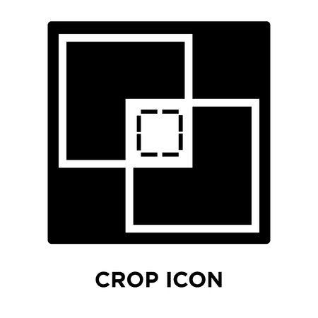 Crop icon vector isolated on white background, logo concept of Crop sign on transparent background, filled black symbol