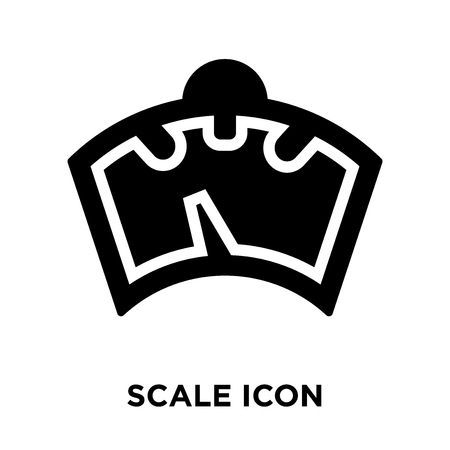 Scale icon vector isolated on white background, logo concept of Scale sign on transparent background, filled black symbol