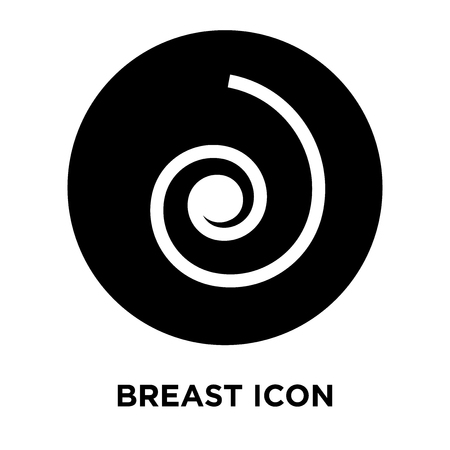 Breast icon vector isolated on white background, logo concept of Breast sign on transparent background, filled black symbol