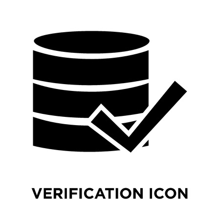 Verification icon vector isolated on white background, logo concept of Verification sign on transparent background, filled black symbol