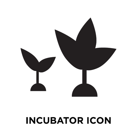 Incubator icon vector isolated on white background, logo concept of Incubator sign on transparent background, filled black symbol