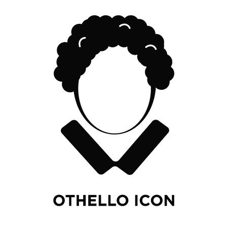 Othello icon vector isolated on white background, logo concept of Othello sign on transparent background, filled black symbol