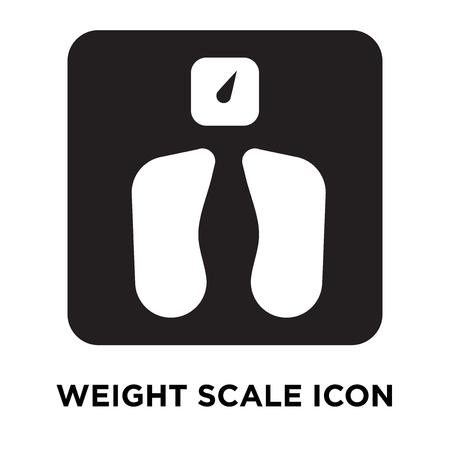 Gewichtsskalen-Symbolvektor lokalisiert auf weißem Hintergrund, Logo-Konzept des Gewichtsskalenzeichens auf transparentem Hintergrund, gefülltes schwarzes Symbol