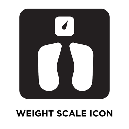 Weight scale icon vector isolated on white background, logo concept of Weight scale sign on transparent background, filled black symbol