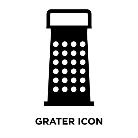 Grater icon vector isolated on white background, logo concept of Grater sign on transparent background, filled black symbol Standard-Bild - 107971595