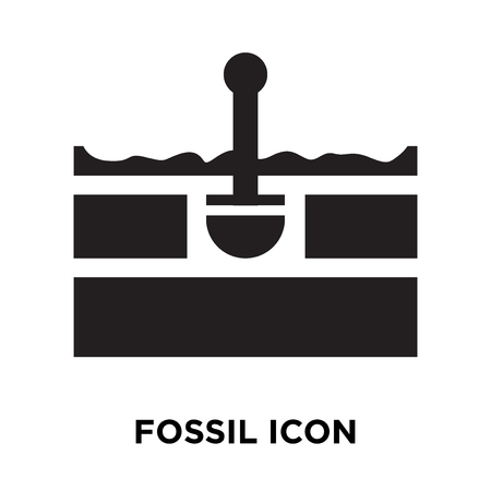 Fossil icon vector isolated on white background, logo concept of Fossil sign on transparent background, filled black symbol