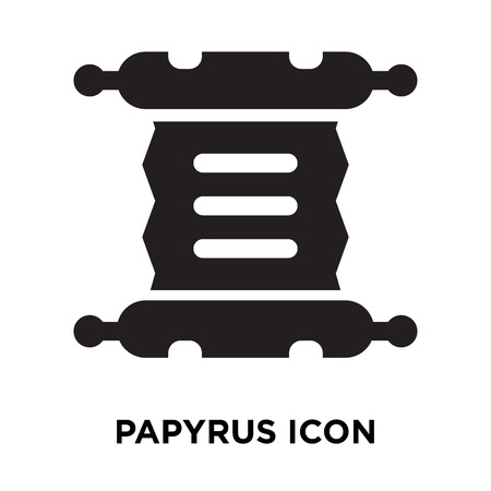 Papyrus icon vector isolated on white background, logo concept of Papyrus sign on transparent background, filled black symbol