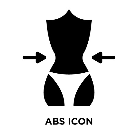 Abs icon vector isolated on white background, logo concept of Abs sign on transparent background, filled black symbol