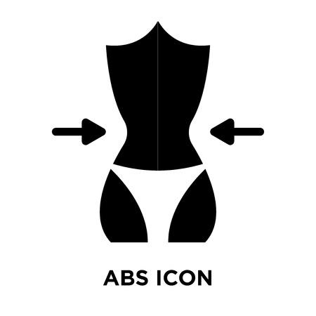 Vecteur d'icône ABS isolé sur fond blanc, notion de logo d'Abs signe sur fond transparent, rempli de symbole en noir