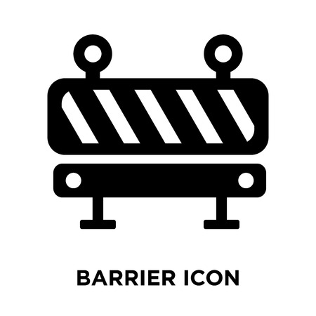 Barrier icon vector isolated on white background, logo concept of Barrier sign on transparent background, filled black symbol