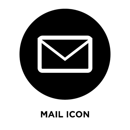 Mail icon vector isolated on white background, logo concept of Mail sign on transparent background, filled black symbol