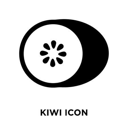 Vecteur d'icône kiwi isolé sur fond blanc, notion de logo de Kiwi signe sur fond transparent, rempli de symbole en noir Logo