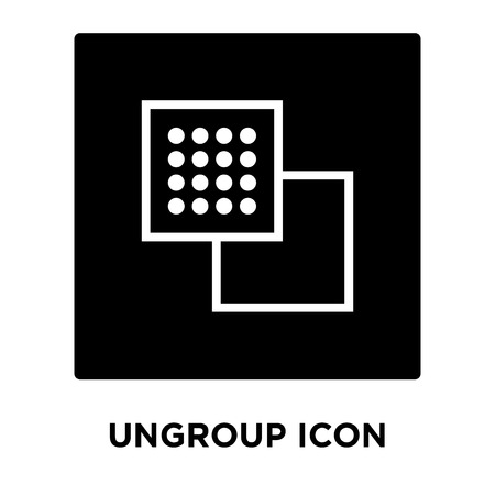 Ungroup icon vector isolated on white background, logo concept of Ungroup sign on transparent background, filled black symbol