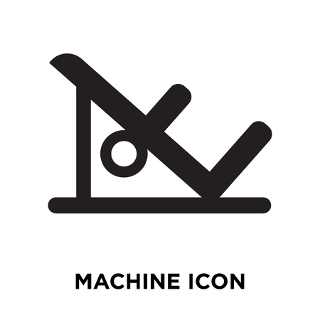 Machine icon vector isolated on white background, logo concept of Machine sign on transparent background, filled black symbol Stock Illustratie