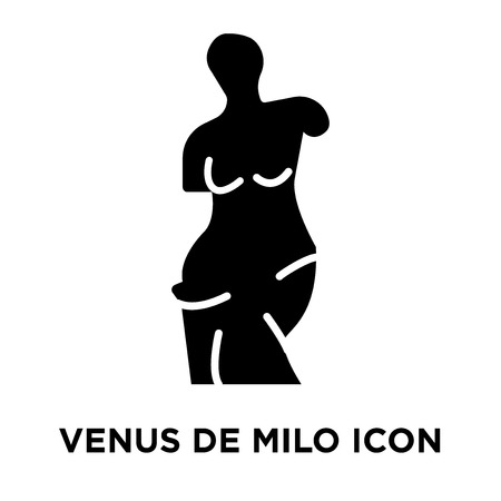 Venus de milo icon vector isolated on white background, logo concept of Venus de milo sign on transparent background, filled black symbol Standard-Bild - 107954515