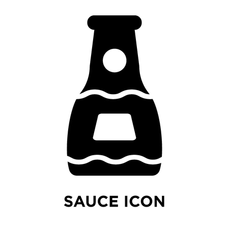 Sauce icon vector isolated on white background, logo concept of Sauce sign on transparent background, filled black symbol