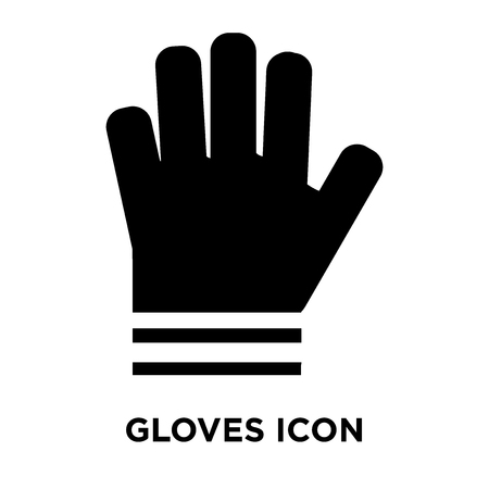 Gloves icon vector isolated on white background, logo concept of Gloves sign on transparent background, filled black symbol