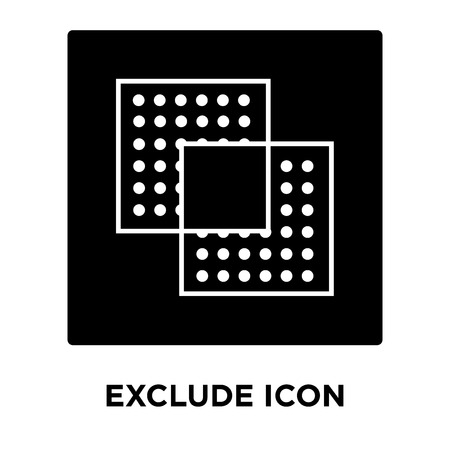 Exclude icon vector isolated on white background, logo concept of Exclude sign on transparent background, filled black symbol