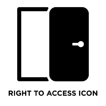 Right to access icon vector isolated on white background, logo concept of Right to access sign on transparent background, filled black symbol