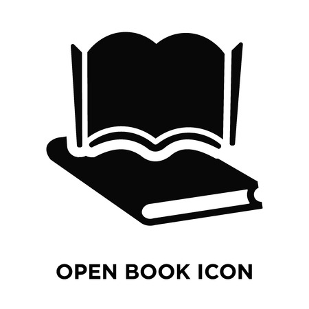 Open book icon vector isolated on white background, logo concept of Open book sign on transparent background, filled black symbol