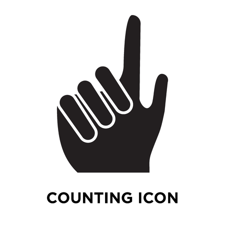 Counting icon vector isolated on white background, logo concept of Counting sign on transparent background, filled black symbol Vectores