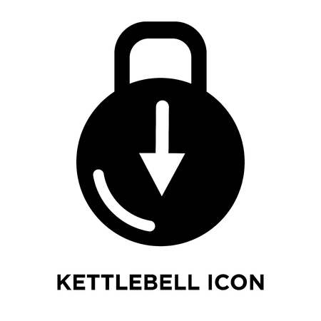 Kettlebell icon vector isolated on white background, logo concept of Kettlebell sign on transparent background, filled black symbol