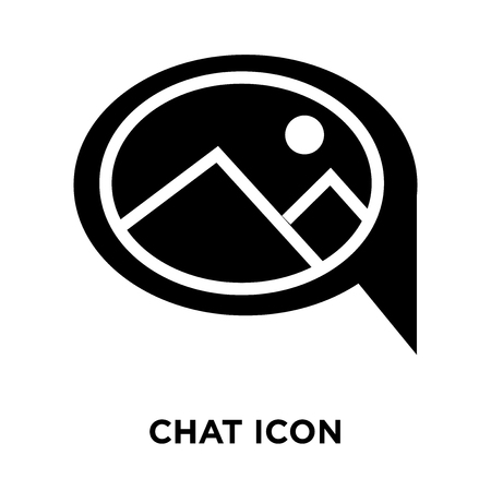 Chat icon vector isolated on white background, logo concept of Chat sign on transparent background, filled black symbol