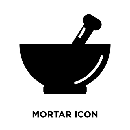 Mortar icon vector isolated on white background, logo concept of Mortar sign on transparent background, filled black symbol