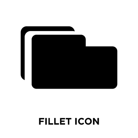 Fillet icon vector isolated on white background, logo concept of Fillet sign on transparent background, filled black symbol 矢量图像