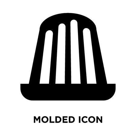 Molded icon vector isolated on white background, logo concept of Molded sign on transparent background, filled black symbol Standard-Bild - 107953725