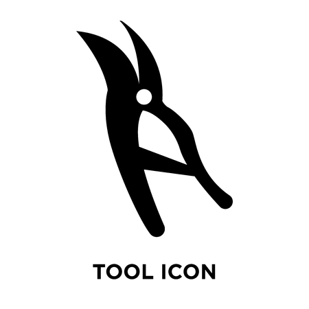 Tool icon vector isolated on white background, logo concept of Tool sign on transparent background, filled black symbol Illustration