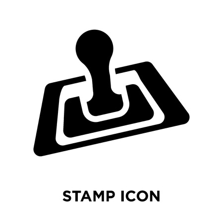 Stamp icon vector isolated on white background, logo concept of Stamp sign on transparent background, filled black symbol