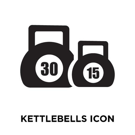 Kettlebells icon vector isolated on white background, logo concept of Kettlebells sign on transparent background, filled black symbol Illustration