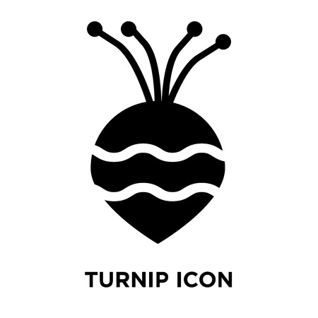 Turnip icon vector isolated on white background, logo concept of Turnip sign on transparent background, filled black symbol