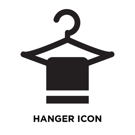 Hanger icon vector isolated on white background, logo concept of Hanger sign on transparent background, filled black symbol Illustration