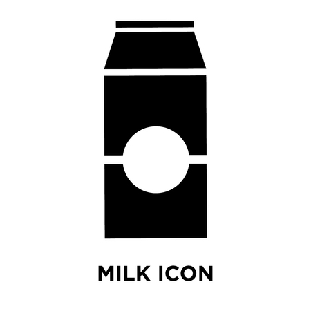 Milk icon vector isolated on white background, logo concept of Milk sign on transparent background, filled black symbol Standard-Bild - 107786338