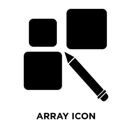 Array icon vector isolated on white background, logo concept of Array sign on transparent background, filled black symbol