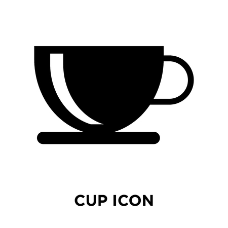 Cup icon vector isolated on white background, logo concept of Cup sign on transparent background, filled black symbol Standard-Bild - 107784041