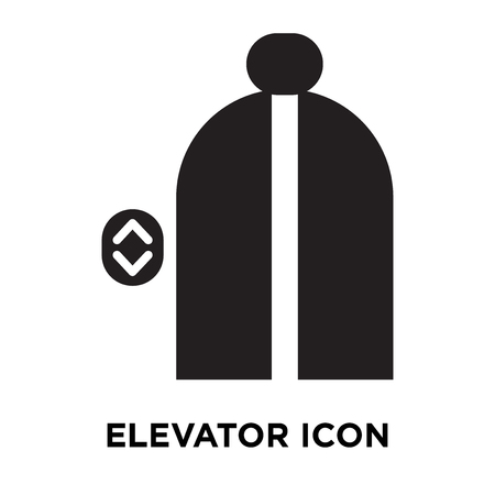 Elevator icon vector isolated on white background, logo concept of Elevator sign on transparent background, filled black symbol